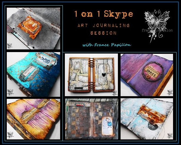 1 on 1 skype art journaling session
