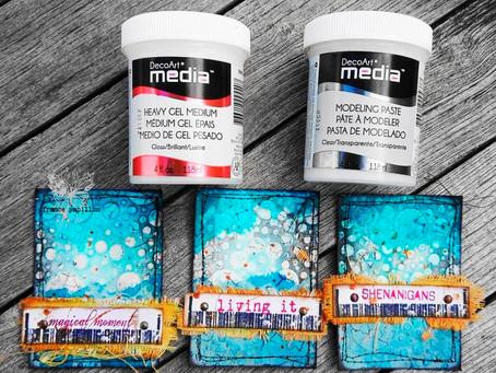 Mixed Media Shorty 8: new DecoArt products