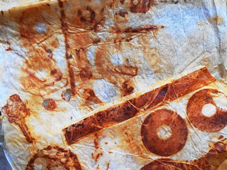 From white to rusty: paper rusting recipe