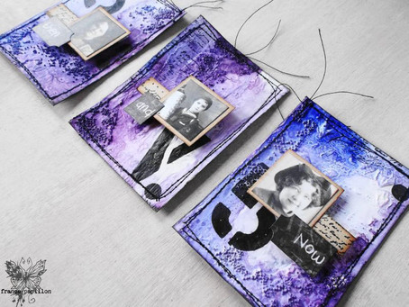 Now and Then: an ATC tryptich for Mixed Media Place