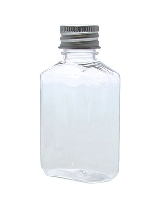 Clear plastic bottle with lid