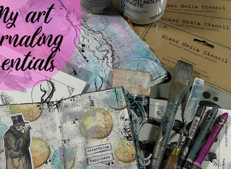 Papillon's flutterings ep 10: My art journaling essentials