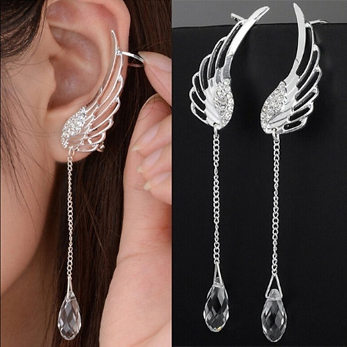 Angel Wing Stylist Crystal Earrings