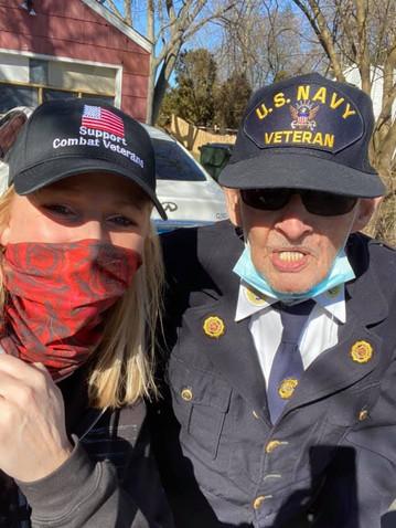 100 year old Navy Veteran, Mr Kilty & WVP Founder, Jeannie Miller