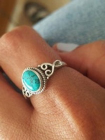 Sterling Silver Turquoise Natural Gemstone