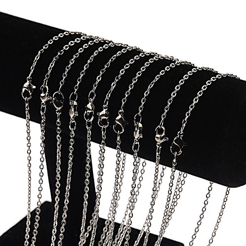 Silver Plated Hard Link Chain Necklaces 22''