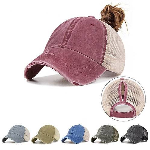 Women Messy Bun Baseball Hat