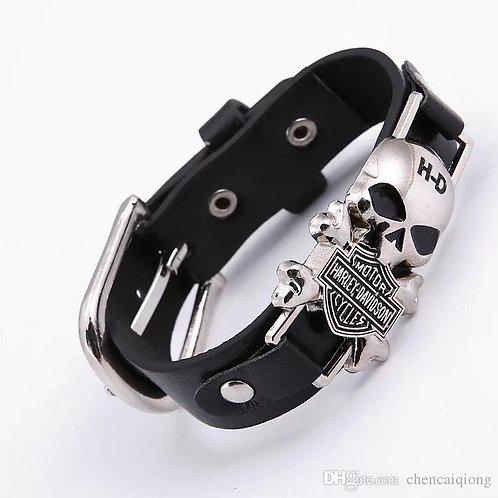 Harley Davidson MotorCyclesMen Bracelets Wide Leather Bracelet