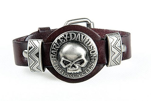 Harley Davidson Leather Bracelet