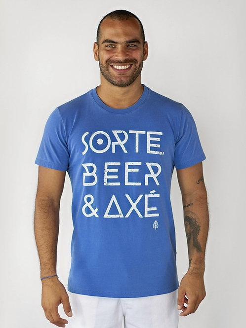 Camiseta SORTE, BEER & AXÉ