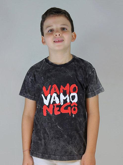 Camiseta Infantil VAMO VAMO NEGÔ