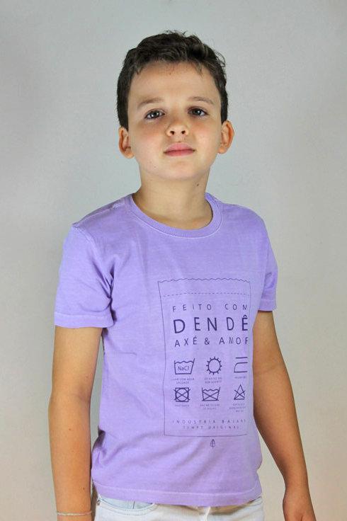 Camiseta Infantil FEITO COM DENDÊ