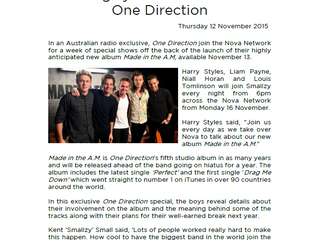 ONE DIRECTION EXCLUSIVE