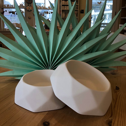 Geometric Pet Bowl