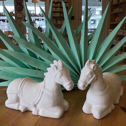 Kneeling Horse Figure