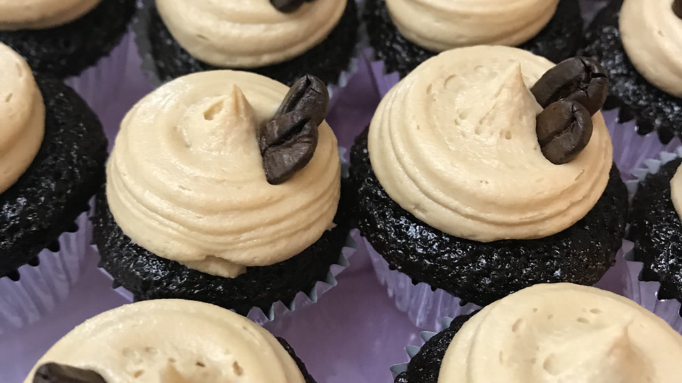 Mini Chocolate Coffee Cupcakes