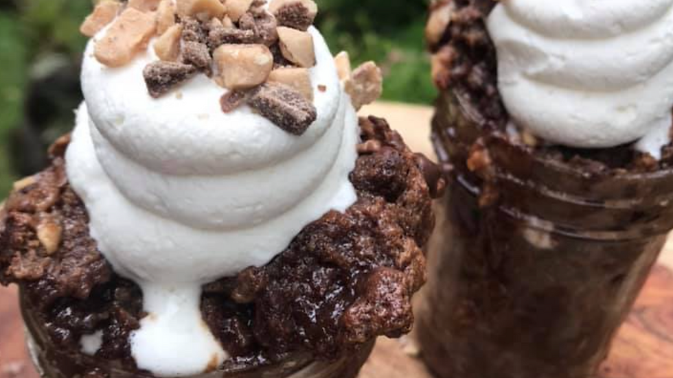 Toffee Chocolate Bread Pudding