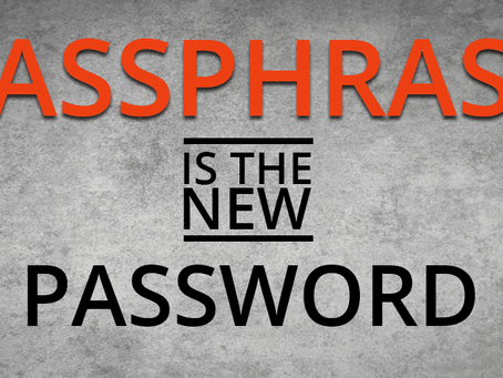 Password, Passphrases, and Password Managers
