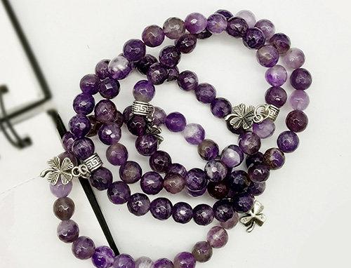 Whe Genuine Gemstone Amethyst Bracelet