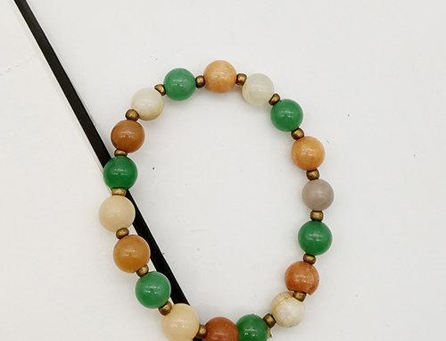 Whe Tricolor Genuine Gemstone bracelet