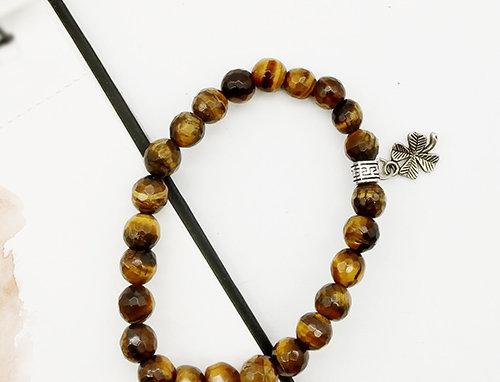 Whe Genuine Gemstone Tiger Eye Strength Bracelet