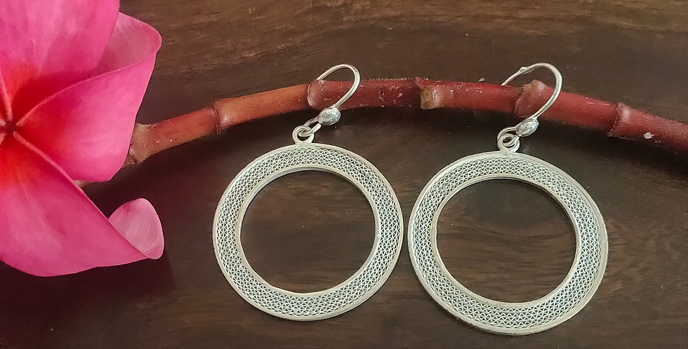 Silver Donut Earrings (Heavy)
