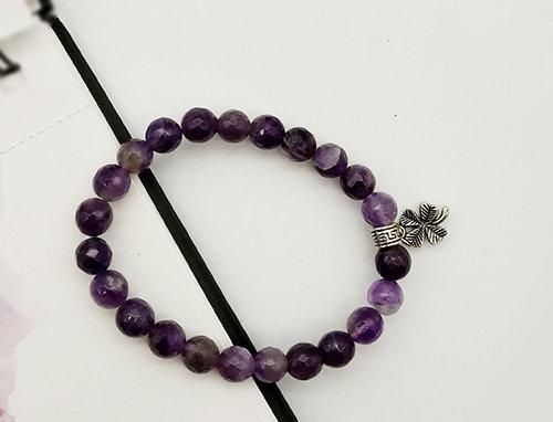 Whe Unisex Genuine  Amethyst Healing Bracelet