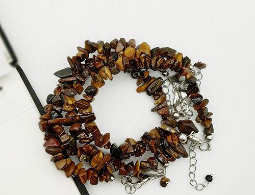 Whe set of 4 Genuine Tiger Eye Gemstone adjustable bracelets