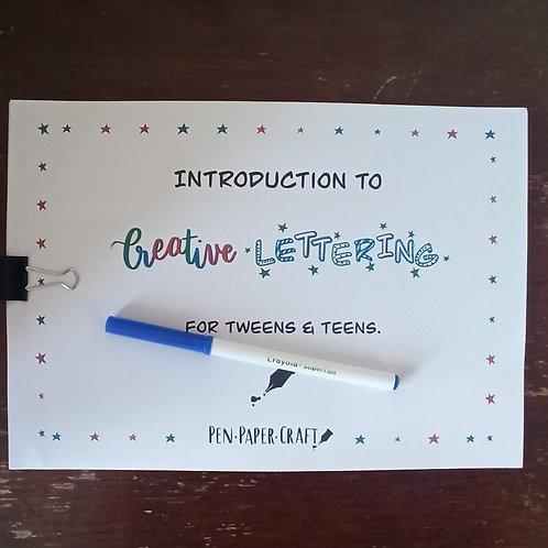 Creative Lettering Kit (for Tweens & Teens)