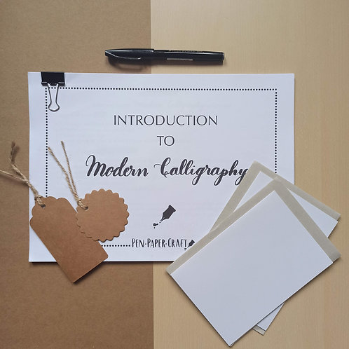 Introduction to Modern Calligraphy Kit  with video (for Adults)