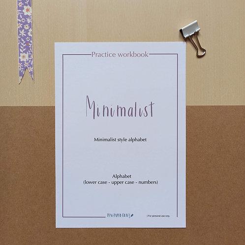 Minimalist style alphabet Workbook