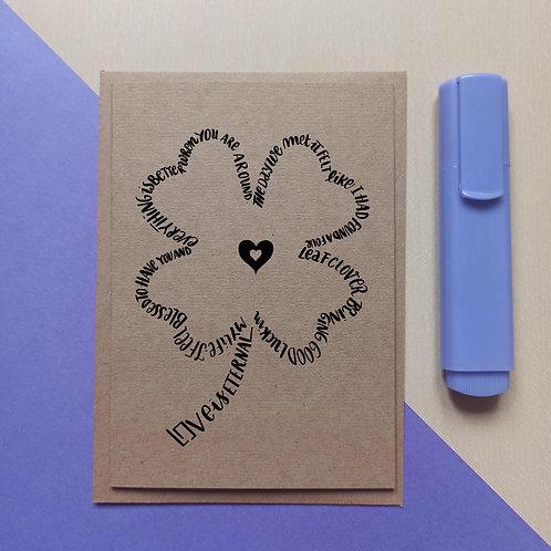 Four-leaf clover card
