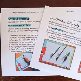 calligraphy and hand lettering workshops