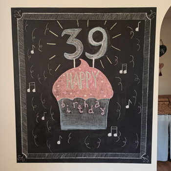 Birthday chalkboard wall decoration