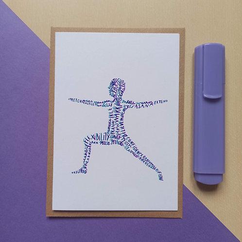 Yoga Warrior 2 / Virabhadrasana II card