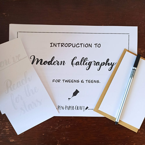 Introduction to Modern Calligraphy Kit (for Tweens &Teens)