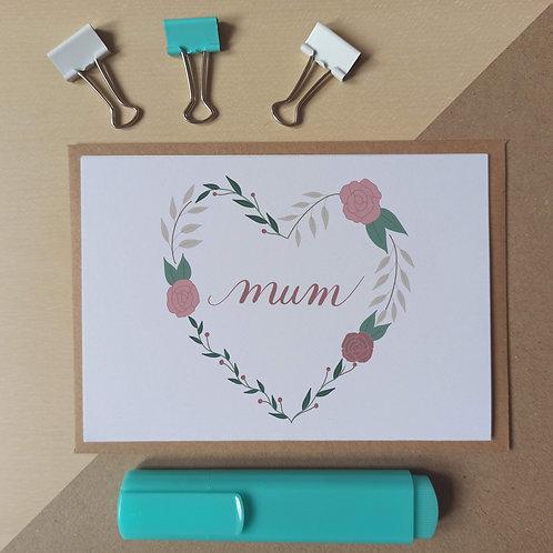 Mum wreath card