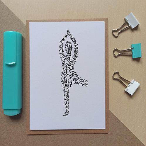 Yoga Tree pose/ Vrksasana card