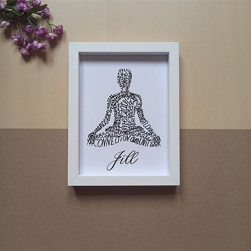 Yoga Lotus pose/ Padmasana print