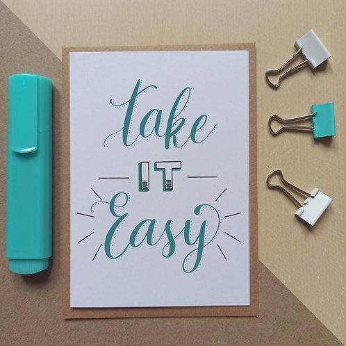 Take it easy card