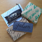 Examples on how to personnalise gift wraps