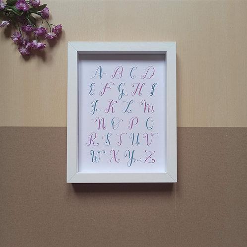 Calligraphy Alphabet print