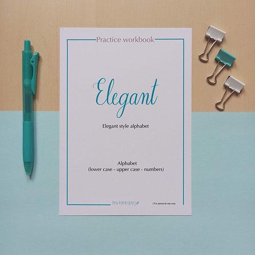 Elegant style alphabet Workbook
