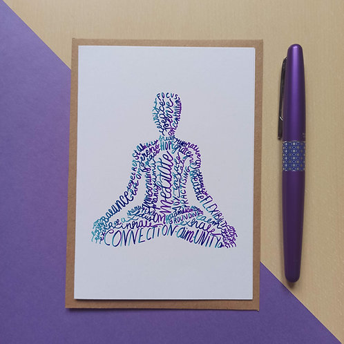 Yoga Lotus pose / Padmasana card