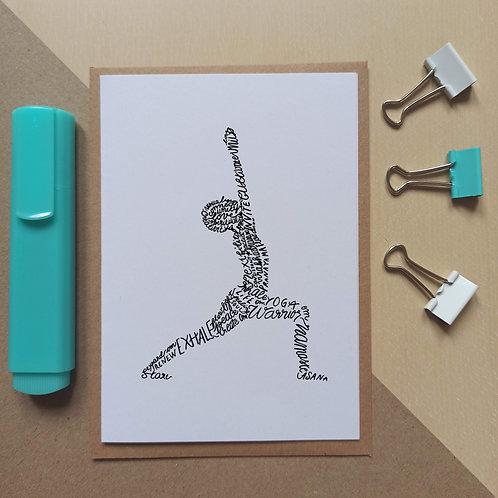Yoga Warrior 1 / Virabhadrasana I card