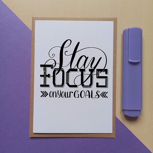 Stay focus on your goals card