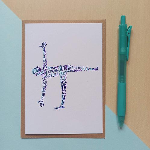 Yoga Half moon pose / Ardha Chandrasana card
