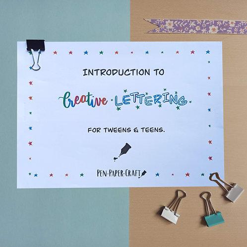 Printable Creative Lettering Workbook (for Tweens & Teens)