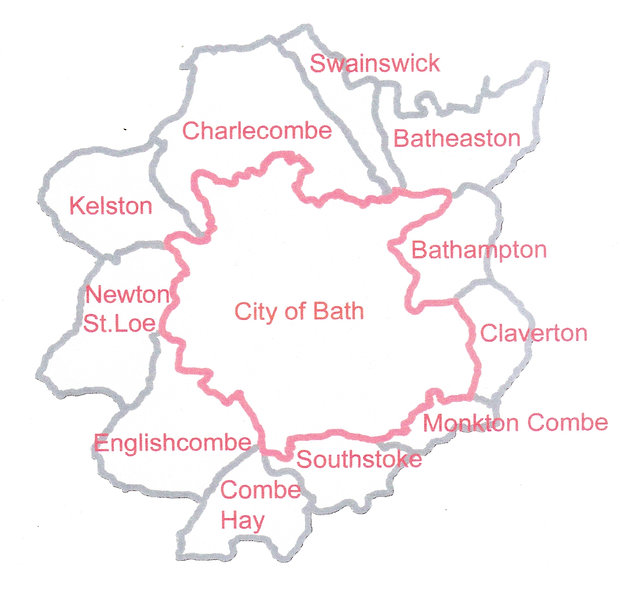 Eligibility map for grant funding by Bath Disability Trust