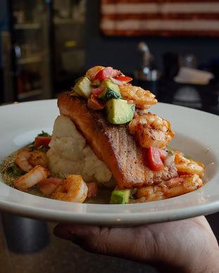 Dinner Features -  Crispy Salmon Cocina